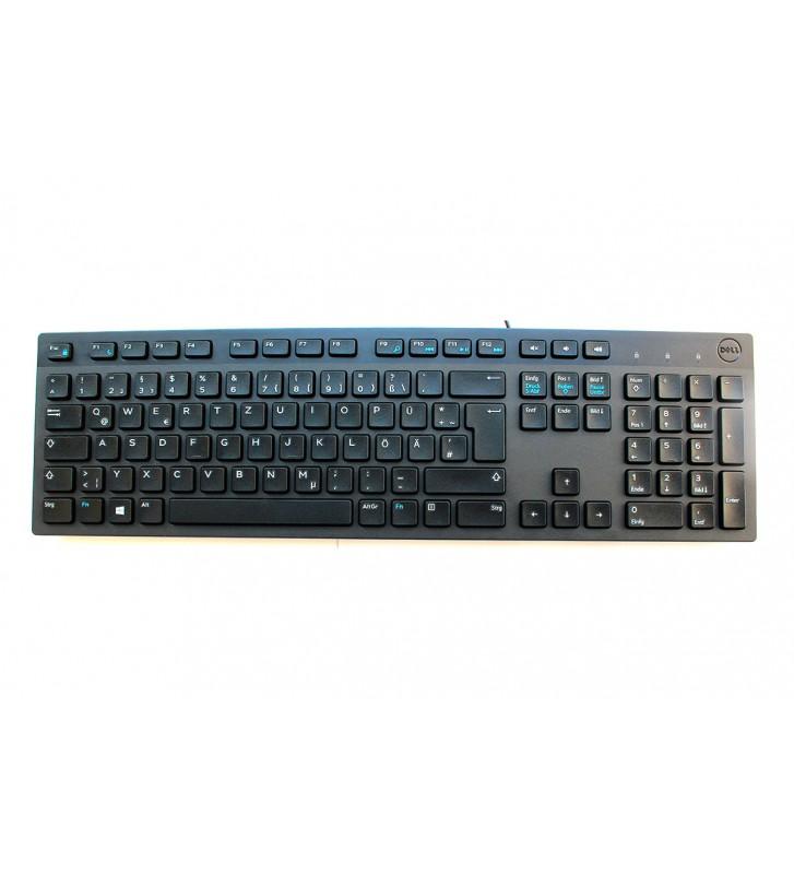 Tastatura cu fir usb Dell limba Germana qwertz taste numerice
