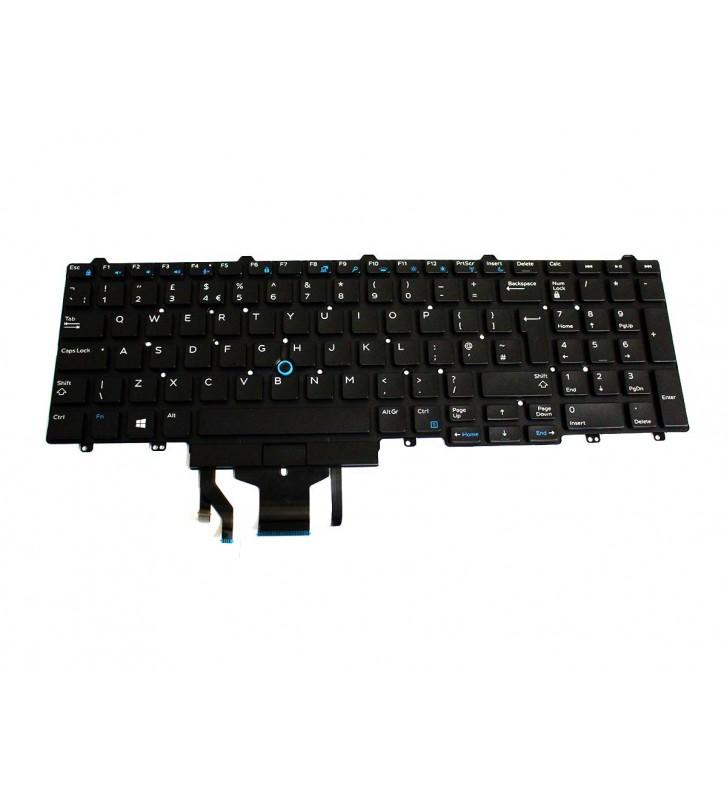 Tastatura originala Dell Latitude 5580 5590 5591 UK cu iluminare FP37Y