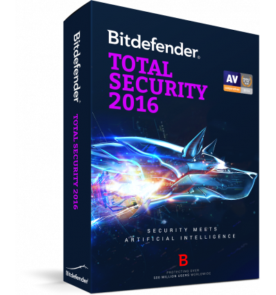 Bitdefender Total Security 2016, 1 an, 3 utilizatori