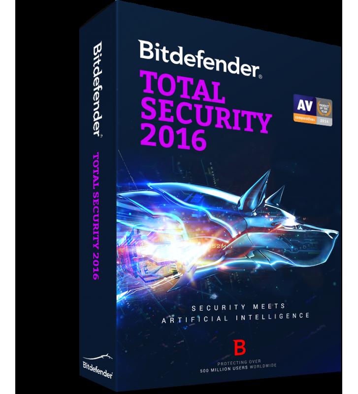 Bitdefender Total Security 2016, 1 an, 5 utilizatori